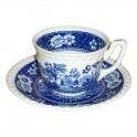 Villeroy & Boch Rusticana blau Kaffeetasse mit Untertasse