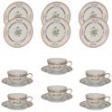 H&C Heinrich Mandarin Teeset für 6 Personen (18-teilig)