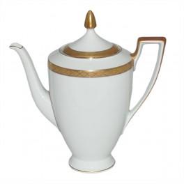 H&C Heinrich Empire Kaffeekanne (Dekor 31), Golddekor