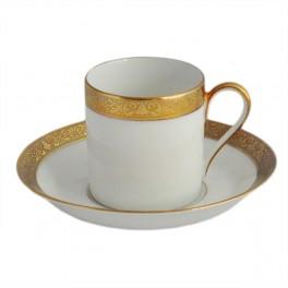 H&C Heinrich Festtags-Porzellan weiß, Espressotasse mit Untertasse, (Dekor 45)