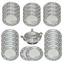 Silberstaffage Dekor 2, Speiseservice für 12 Personen (34-teilig)