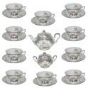 Silberstaffage Dekor 7, Teeservice für 10 Personen (22-teilig)