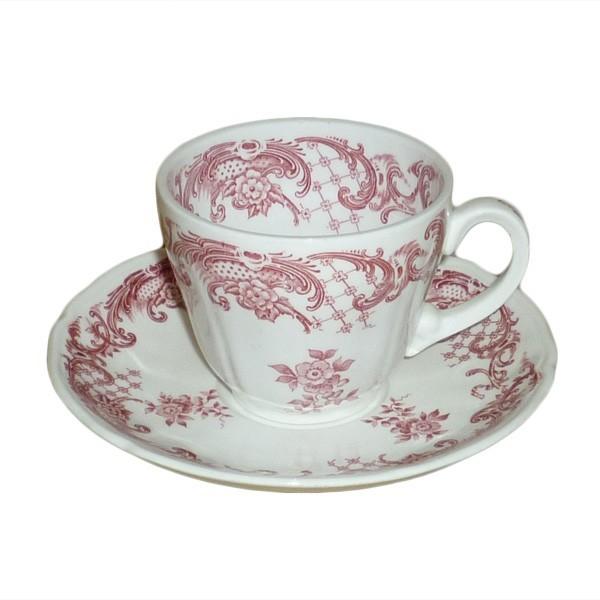 villeroy boch valeria rot kaffeetasse 0 15 liter mit untertasse. Black Bedroom Furniture Sets. Home Design Ideas